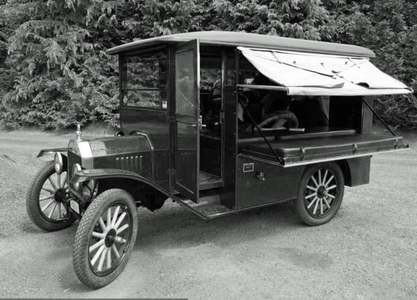 Built by Anheuser Busch and mounted on the Chassis of a Model T Ford
