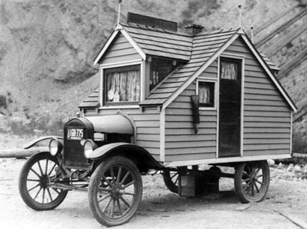 Ford Model-T with house built on top