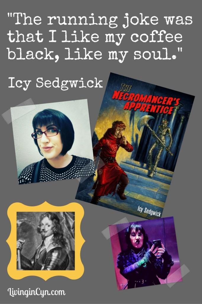 Icy Sedgwick LivingInCyn.com author interview