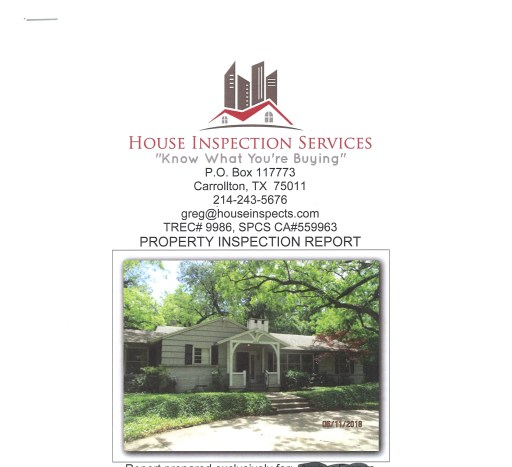 Make sure you hire a general inspector so you understand what repairs are needed. Image of older home with a porch. Siding and curved driveway. House Inspects Logo and information