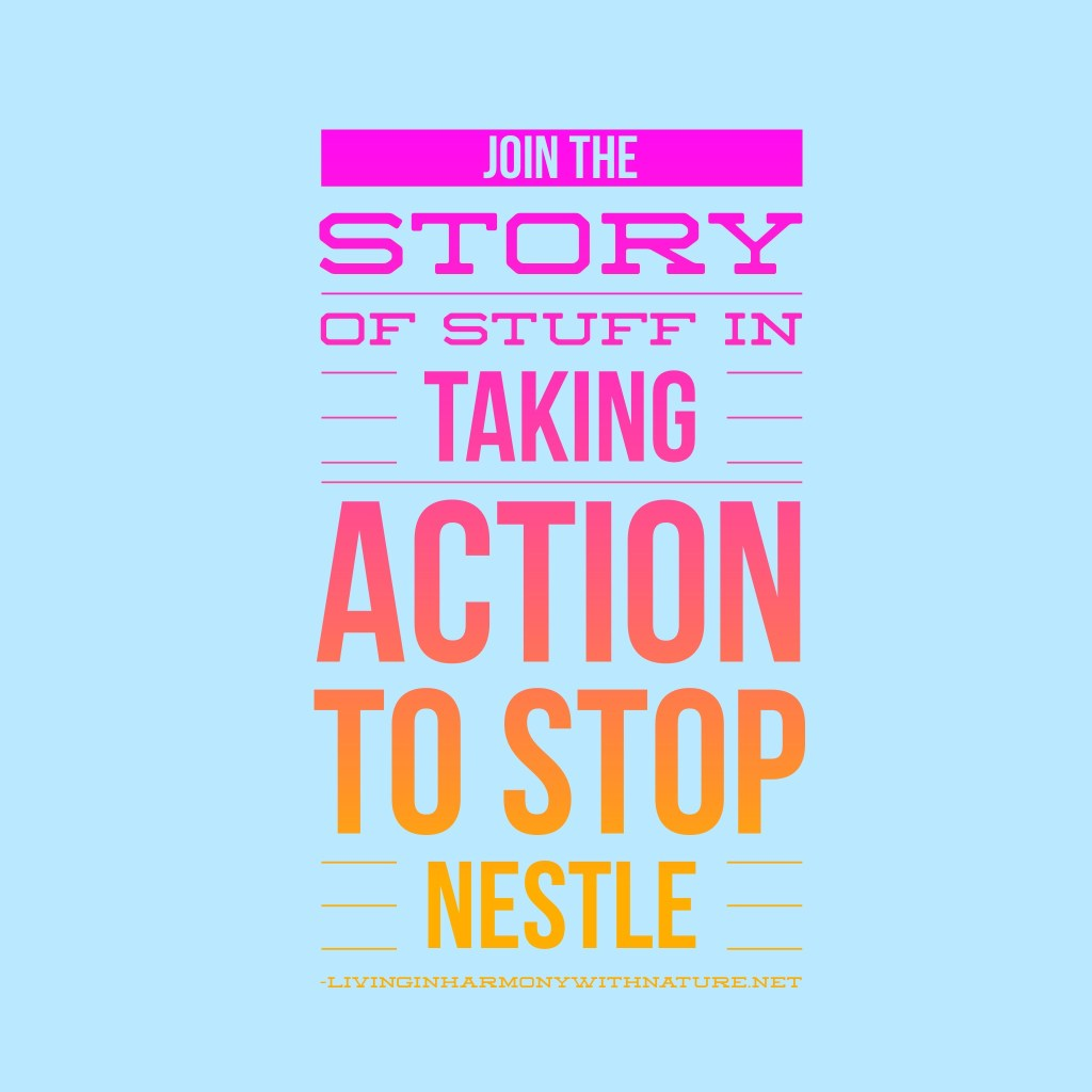 take action to stop Nestle