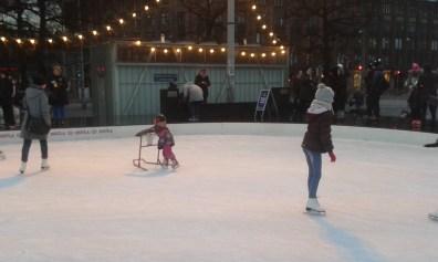 Iceskating in evening