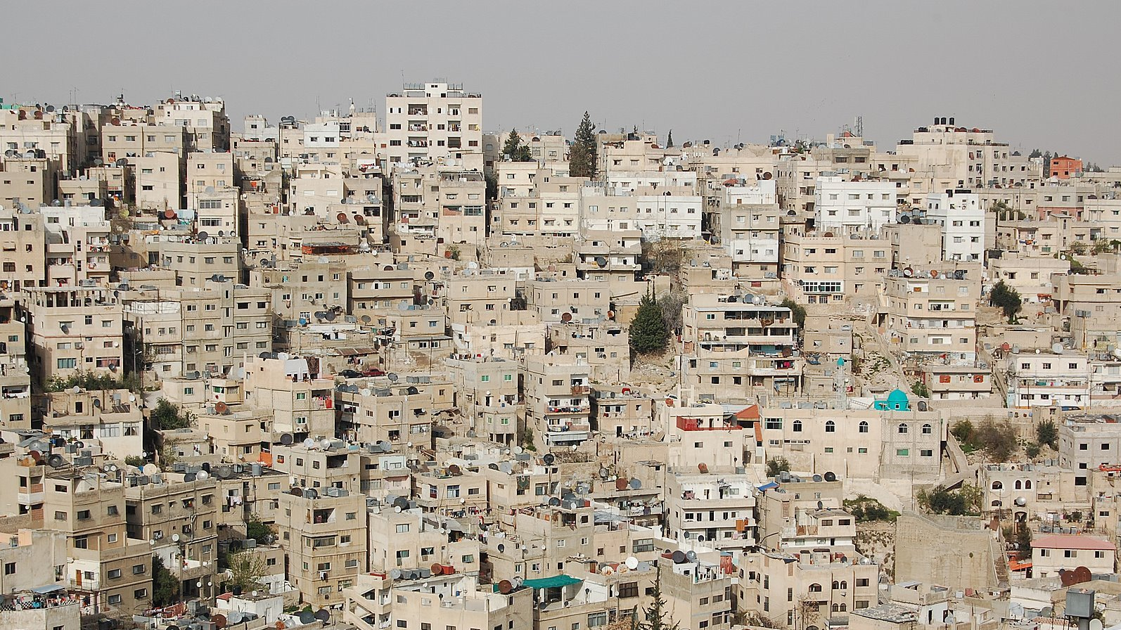 Scene of Houses on a hill in Amman Downtown