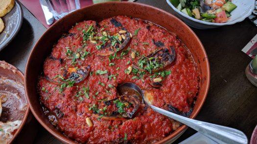 Mussaka at Sufra Restaurant, Amman Jordan