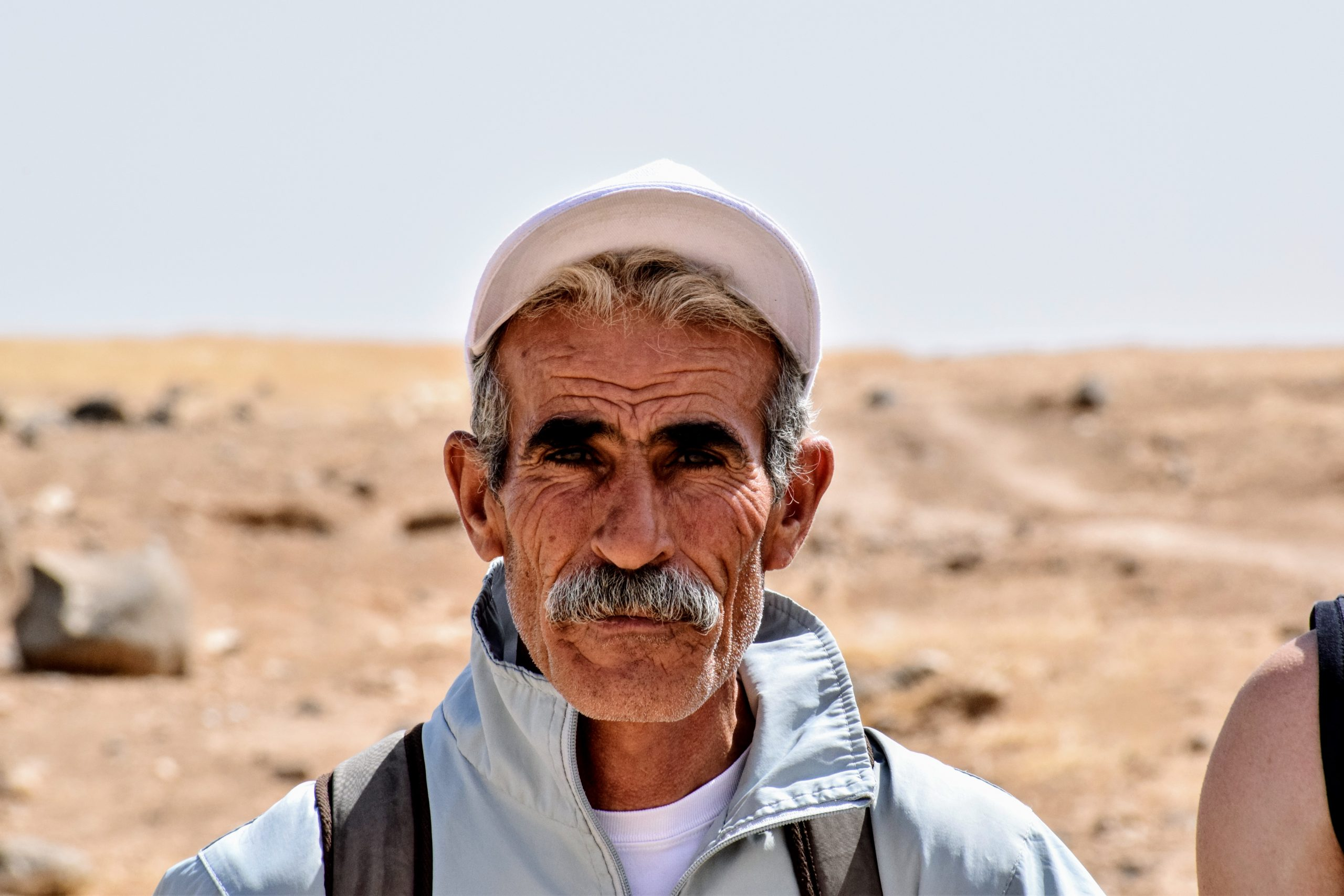 Close portrait of Jordanian man