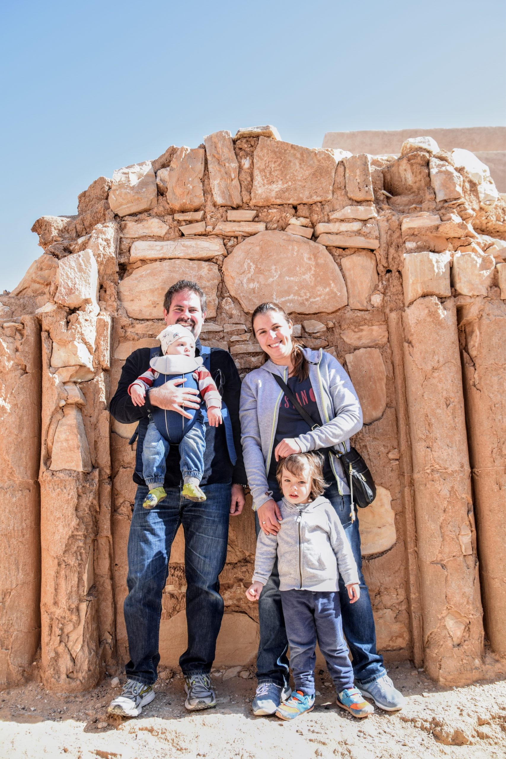 The family at Karaneh Castle, East Jordan