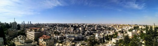 View over Amman from Bibim Restaurant