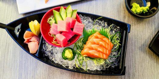 Sushi Den - Salmon Sashimi and Tuna Sashimi Cubes