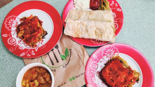 Vegan Lasagne, Shawerma and Goulash