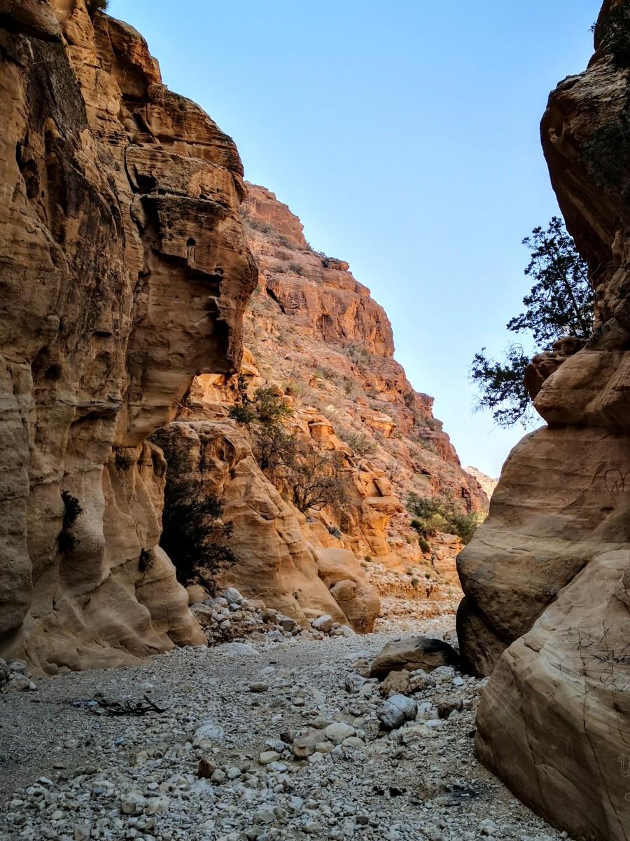 Leaving Wadi Malaga, Jordan Trail