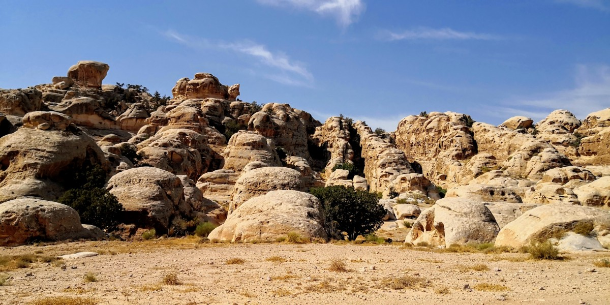 Lime stone formations near Little Petra