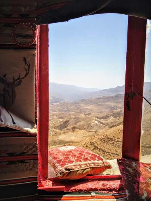 View through Window onto Wadi Mujib Reserve