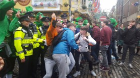 The Irish lads getting a group shot with the Garda