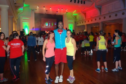 Maria, Jon and I at the Zumbathon