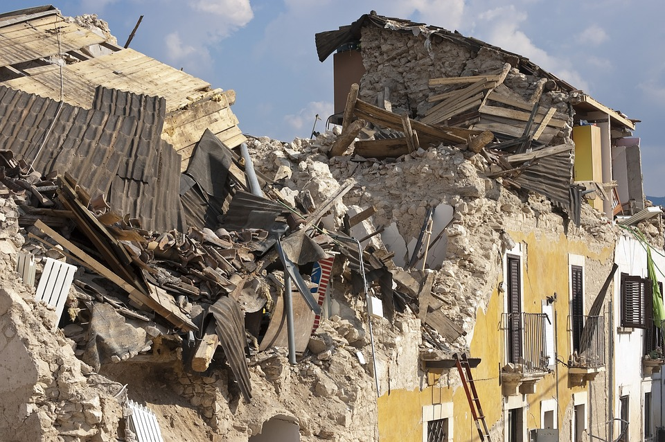 Rubble Earthquake Collapse Disaster House Roads