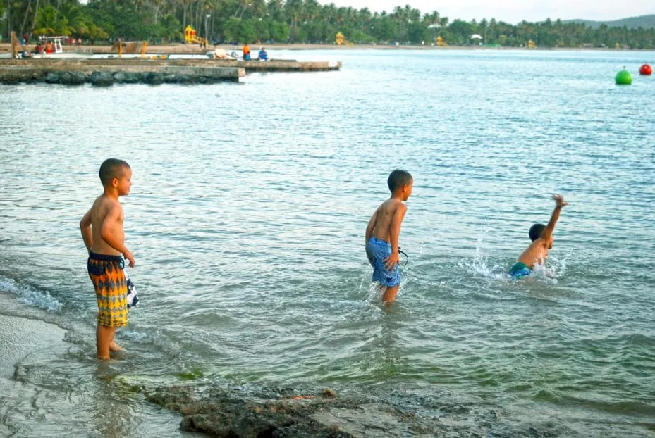 Kids Playing in water, Boqueron, Puerto Rico