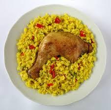 arroz con sofrito y pollo
