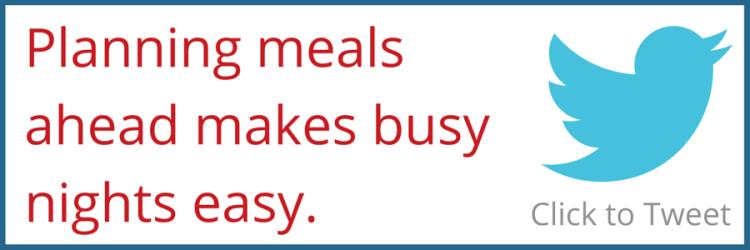 Meal Planning Tweet
