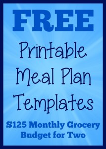 printable meal plan templates