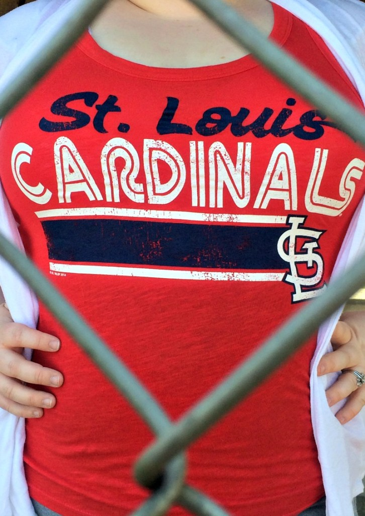 What to wear to the Cardinals Home Opener | This tank top was on sale at fanatics.com, and cost less than $15!