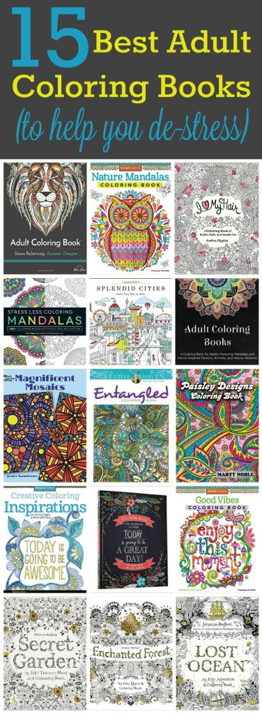 15 Best Adult Coloring Books Pin