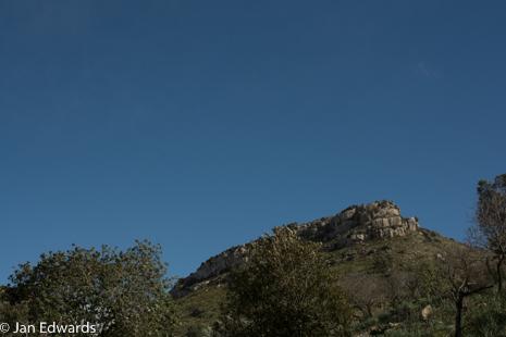 The nearby mountain known as Es Telegraf