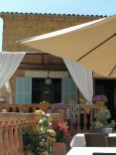 Part of the restaurant terrace