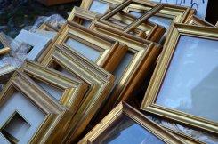 Picture frames, Gran Balon antiques market, Turin, Torino, Piemonte