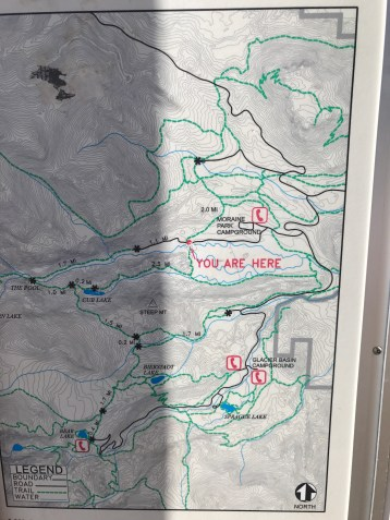 A map of our trail to Cub Lake.