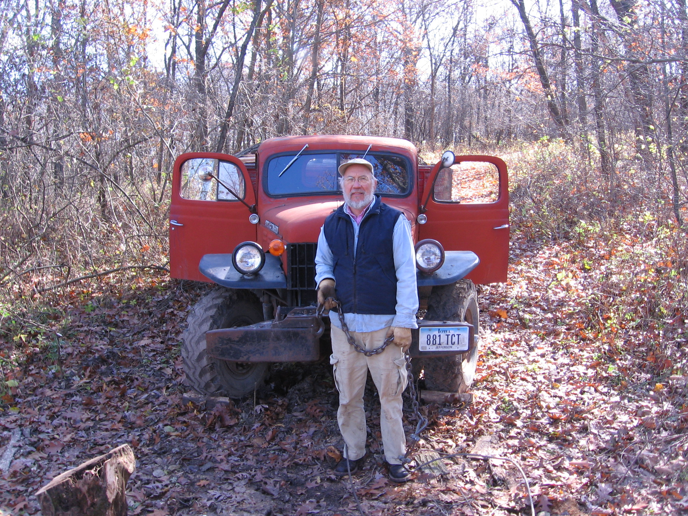 Papa with Truck