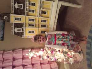 Brielle and her tree. She has been begging for weeks to out it up, ever since she saw the first glimpse of Christmas decor in the stores.