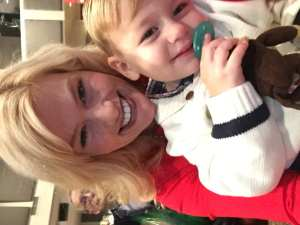 Charlie and I were taking selfies before the program started. I was trying the keep him entertained and quiet.