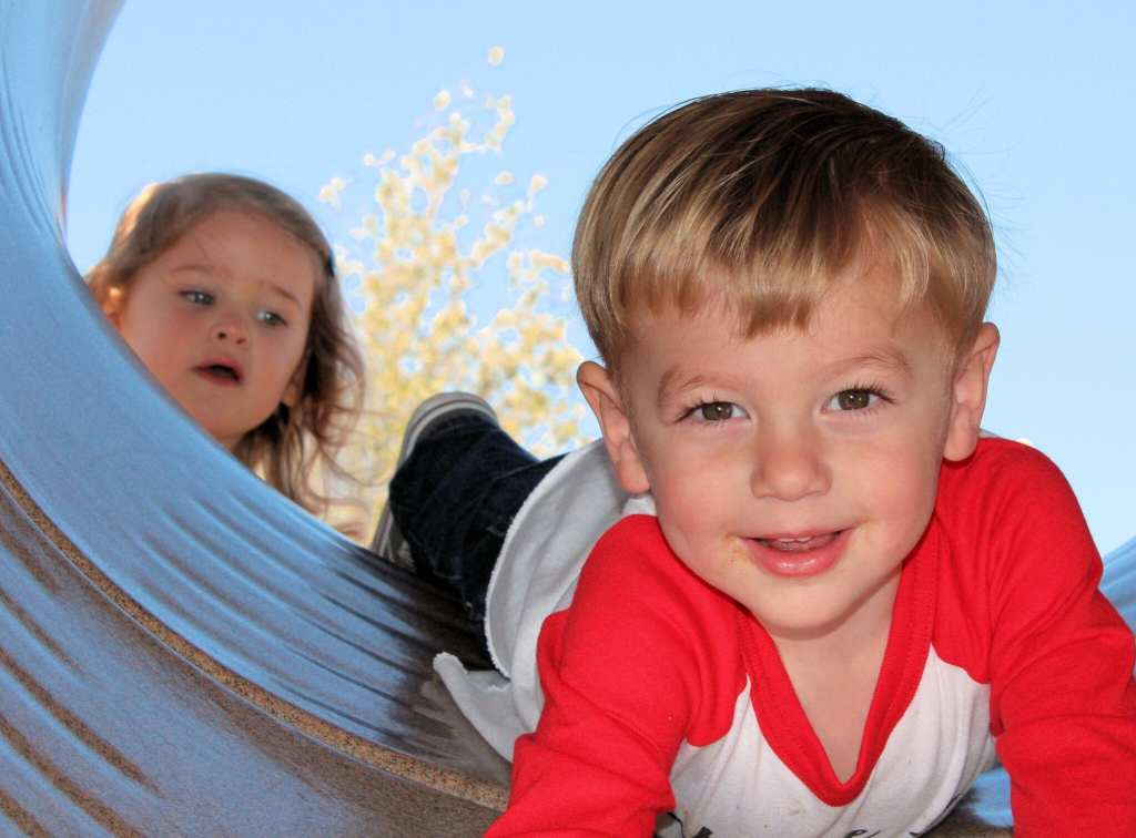 Charlie with our little friend Estelle behind him.