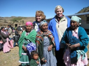 Penny and Magdalena with some of the elder women of Canton San Antonio.