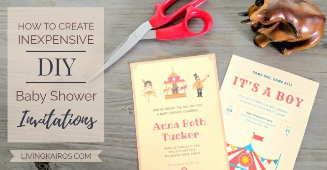 How To Create Inexpensive Diy Baby Shower Invitations