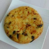 Tortilla de patatas y pimientos de Padrón (vegana)