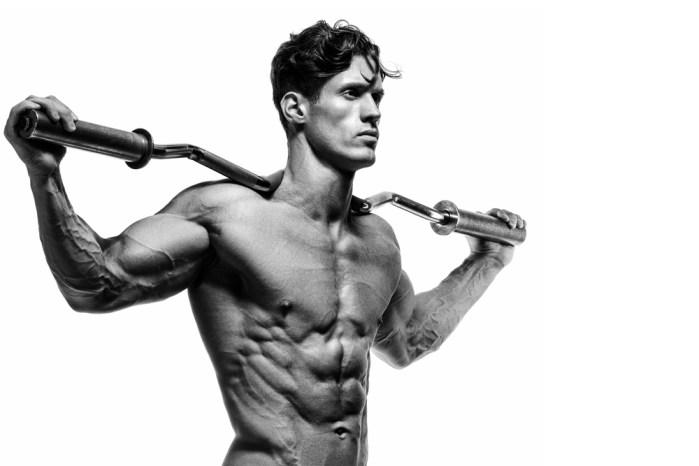 muscular, lean man
