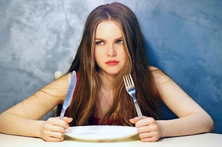hunger diet woman