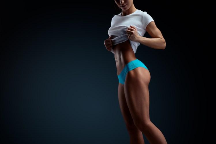 lean athletic woman