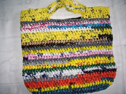 Made from grocery bags
