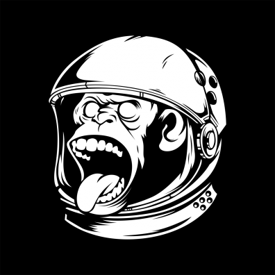 "LIVING LIFE FEARLESS ""Space Monkey"""