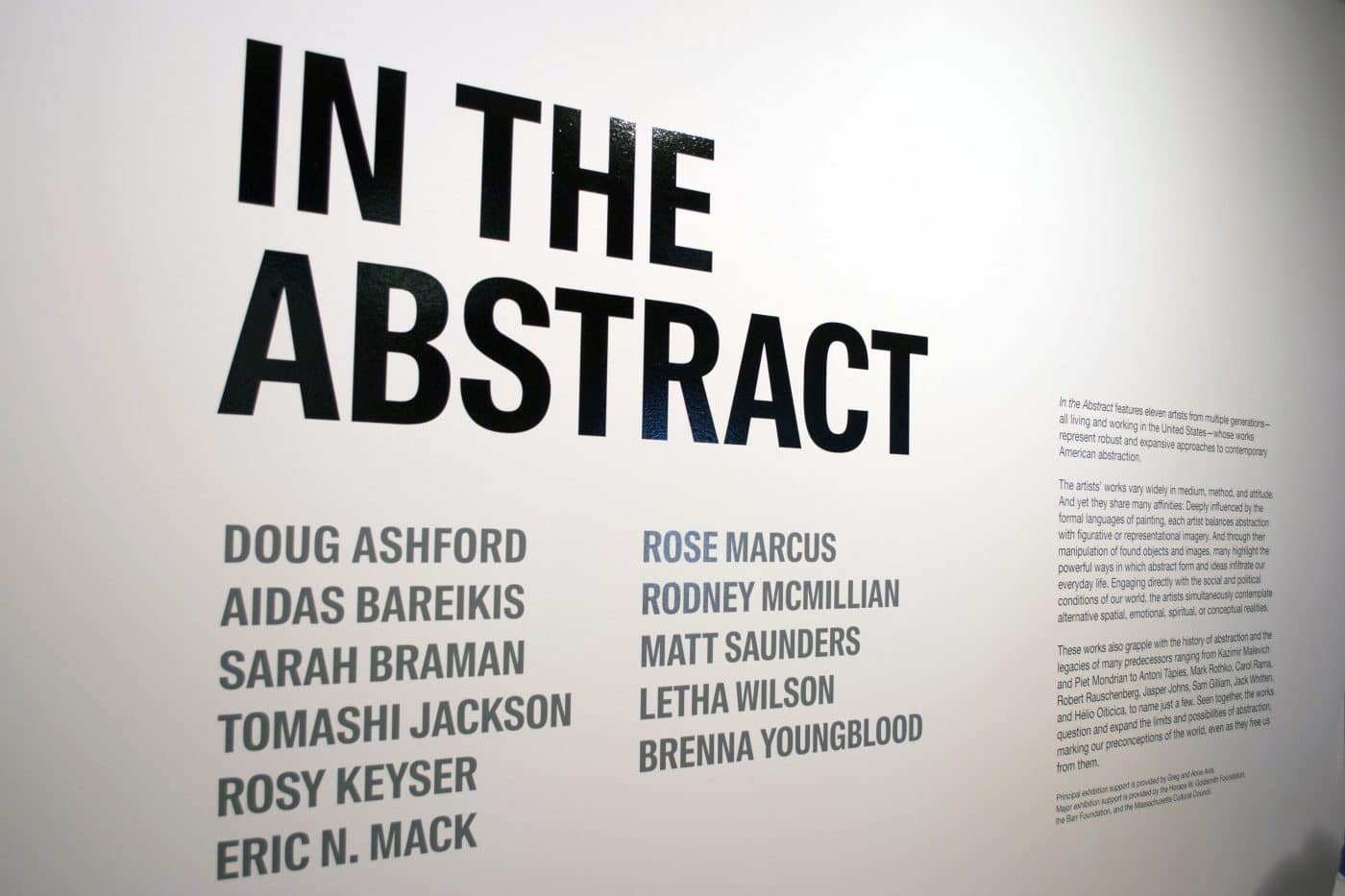 """In the Abstract"" 