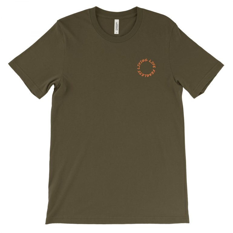 Troye Tee in Army | Concert Series | Shop | LIVING LIFE FEARLESS