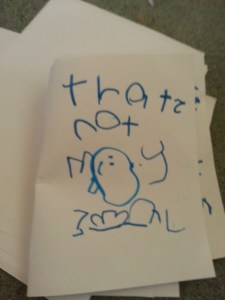 'That's Not My Seal' book she made herself 02.12.13