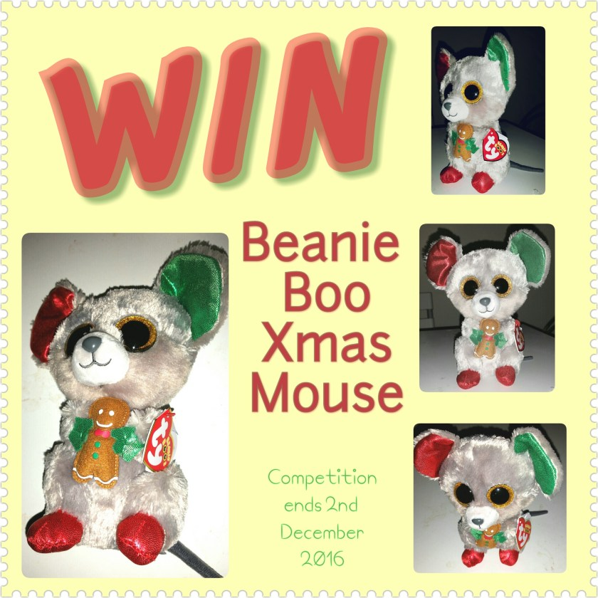Competition, giveaway, prize draw, win, Beanie Boos, Mac the Christmas Mouse