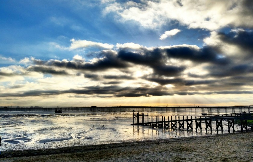 Three Shells Lagoon, Seaside, Sunset, Southend-on-sea, Essex, England, Living Life Our Way, Blue Mind