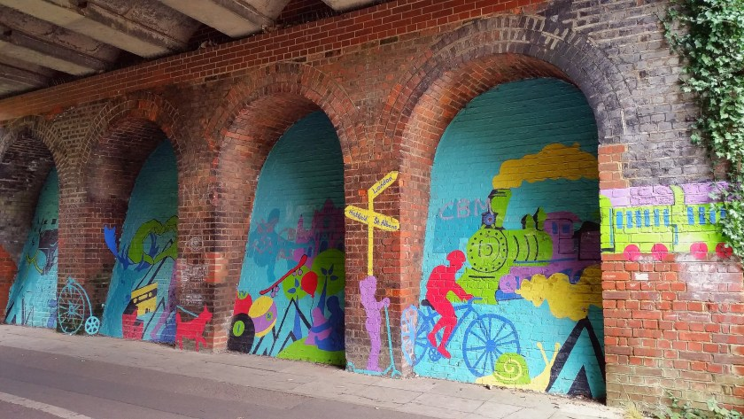 #cyclingadventures, InnTravel, slow holidays, cycling, cycle route, Alban Way, graffiti art, St Albans, Hertfordshire, active lifestyle, wellbeing, outdoors, get outside