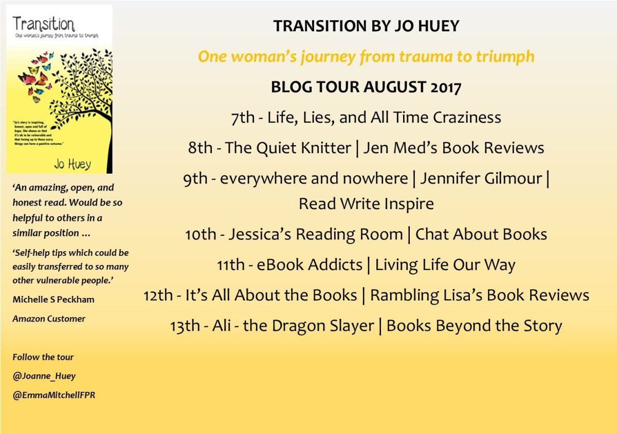 An Interview With Jo Huey: Author of Transition (Book Blog Tour)