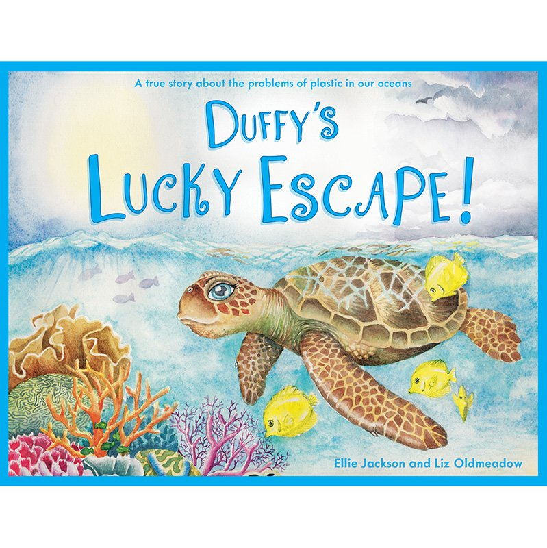 Duffy's Lucky Escape (Duffy The Sea Turtle): An Inspiring and Educational Childrens Book About Ocean Plastics (Review and Giveaway)