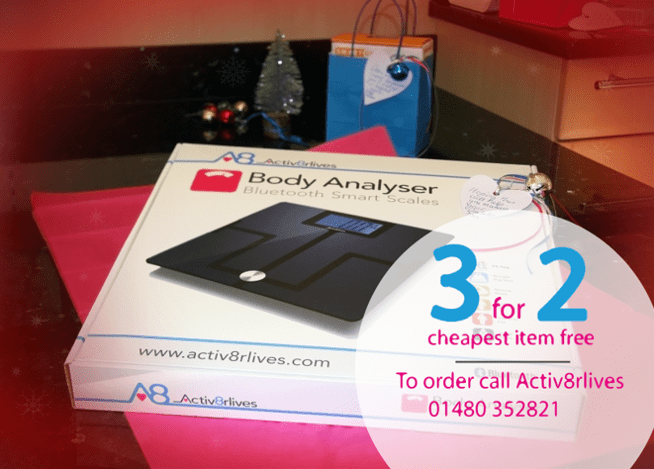 ​Win Activ8rlives Sleek Bluetooth Smart Scales for Christmas